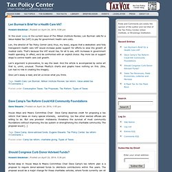 TaxVox: the Tax Policy Center blog :: Main Page
