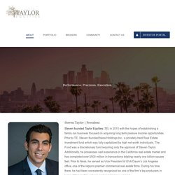 Taylor Equities Founded by Steven Taylor