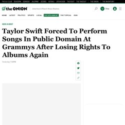 Taylor Swift Forced To Perform Songs In Public Domain At Grammys After Losing Rights To Albums Again