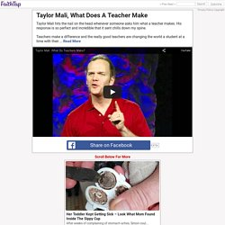 Taylor Mali, What Does A Teacher Make