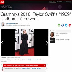 Taylor Swift's '1989' is album of the year at Grammys