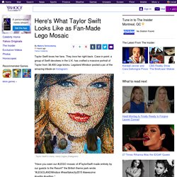 Here's What Taylor Swift Looks Like as Fan-Made Lego Mosaic