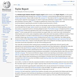 Taylor Report