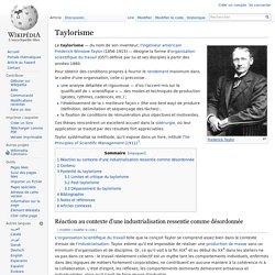 Taylorisme