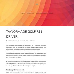 Taylormade golf R11 Driver