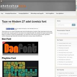Taze ve Modern 27 adet ücretsiz font