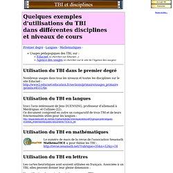 TBI et disciplines