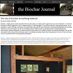 tBJ:The use of biochar as building material