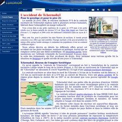 Tchernobyl, Histoire d'un accident, analyse et conséquences