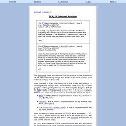 TCP/IP Internet Protocol