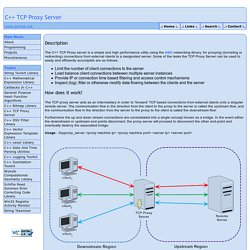 C++ TCP Proxy Server - By Arash Partow
