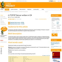 A TCP/IP Server written in C#