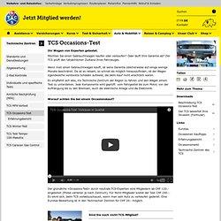 Occasions-Test - TCS Schweiz