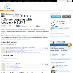 tcServer Logging with Logback & SLF4J