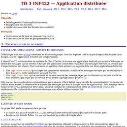 TD 3 -- INF422