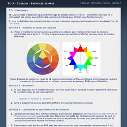 TD 5 - Couleur - Exercices de base