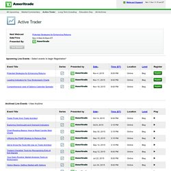 TD Ameritrade Webcasts