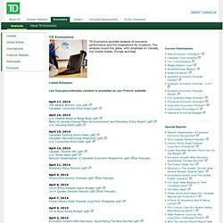 Economics | TD Bank Group