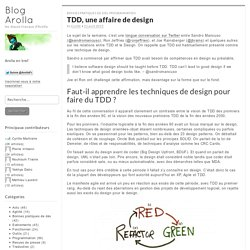 TDD, une affaire de design