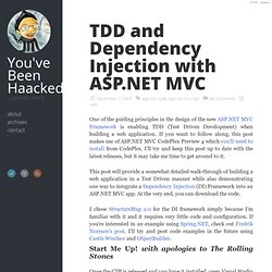 TDD and Dependency Injection with ASP.NET MVC