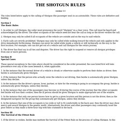 TDY Shotgun Rules