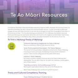 Te Ao Māori Resources