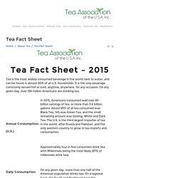 Tea Fact Sheet