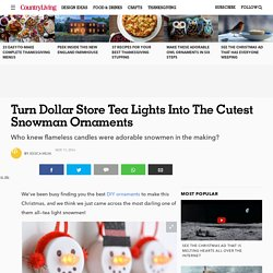 Tea Light Snowmen - Tea Light Ornaments
