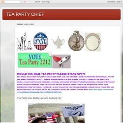 TEA PARTY CHIEF