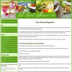 Tea Party Etiquette