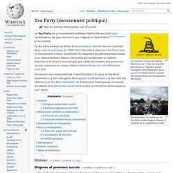 Tea Party (mouvement politique)