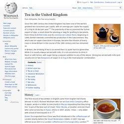 Tea in the United Kingdom
