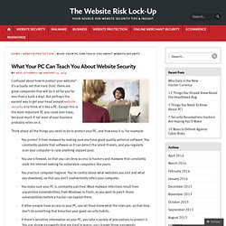 What Your PC Can Teach You About Website Security « The Website Risk Lock-Up