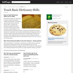 Teach Basic Dictionary Skills