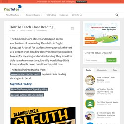 How To Teach Close Reading - Practutor Blog