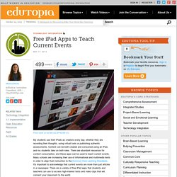 Free iPad Apps to Teach Current Events