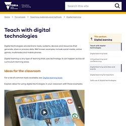 Teach with digital technologies