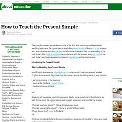 How to Teach the English Present Simple