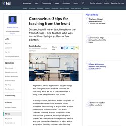 How to teach from the front of class