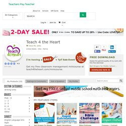 Teach 4 the Heart Teaching Resources