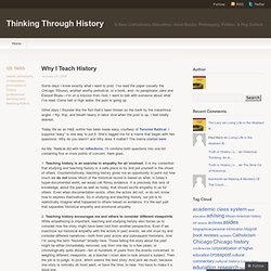 Thinking Through History