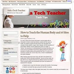How to Teach the Human Body and 16 Sites to Help