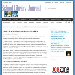 How to Teach Internet Research Skills