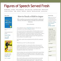 Teach a Kid to Argue - Figures of Speech