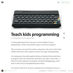 Teach kids programming