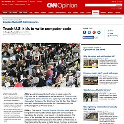 Teach U.S. kids to write computer code