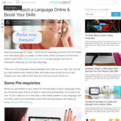 How to Teach a Language Online & Boost Your Skills