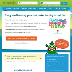 Teach Your Monster to Read: Free Phonics & Reading Game