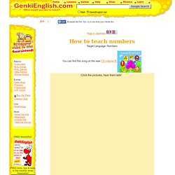 How to teach Numbers, Games, Songs + Picture Cards