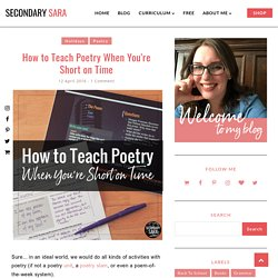How to Teach Poetry When You're Short on Time